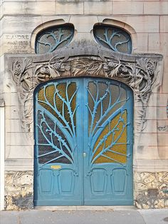 """in-the-middle-of-a-daydream: """" Maison Huot de style Art Nouveau (Nancy) (by dalbera) """" Cool Doors, Unique Doors, Architecture Art Nouveau, Architecture Design, Famous Architecture, Beautiful Architecture, Art Nouveau Arquitectura, Design Art Nouveau, Art Nouveau Interior"""