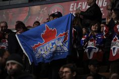 Fans waving our Toronto Rock flag proudly Toronto Rock, Lacrosse, Fans, Country, Sports, Hs Sports, Rural Area, Country Music, Sport