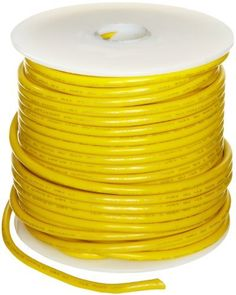"""UL1015 Commercial Copper Wire, Bright, Yellow, 14 AWG, 0.0641"""" Diameter, 100' Length (Pack of 1) by Small Parts. $35.64. UL1015 .030'' PVC insulation rated 600 volts temp range -40 to 105 C, yellow color"""