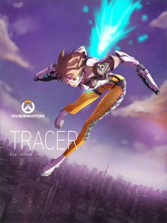 TRACER - More at https://pinterest.com/supergirlsart/ #overwatch #fanart
