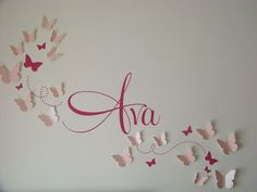 Ava's Big Girl Room:) Decal and 3-D butterflies purchased from etsy.com. We LOVE♥
