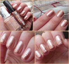 """Tea & Crumpets d'Essie + Nail-Art Liner """"03 Pink Gold"""" de 2B"""