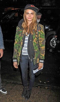 Cammo jacket, hoodie and jeans