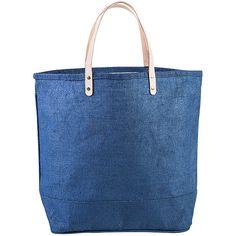 Shorebags Big Jute Bag - Denim Blue - Totes (185 DKK) ❤ liked on Polyvore featuring bags, handbags, tote bags, blue, tote purses, blue purse, blue handbags, zip top tote bags and jute tote bags