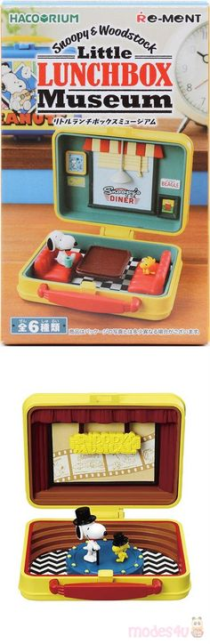 Snoopy SNOOPY /& WOODSTOCK Little Lunchbox Museum Detective Japan Re-Ment