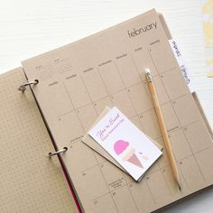 2014 kraft monthly planner sheets by lettercdesign on Etsy