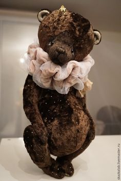 Купить Prince (35 см) - коричневый, мишка тедди, мишка ручной работы, авторский мишка