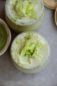 Koktajl bananowo - truskawkowy z zieloną sałatą Hummus, Ethnic Recipes, Food, Essen, Yemek, Meals