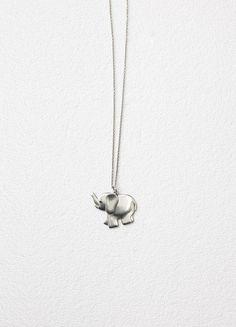 Toy Elephant Necklace in Brass - Céline
