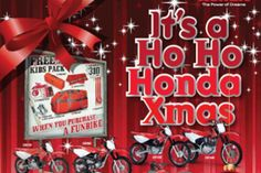 Honda are offering great Christmas deals on their fun bike range.
