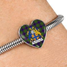 Whitefoord modern Tartan Crest Heart Bracelet – Your Tartan Heart Bracelet, Bracelets, Scottish Tartans, Everyday Items, Cufflinks, Modern, Accessories, Style, Bangle Bracelets