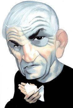 Milan Kundera abandona la guarida El autor rompe su silencio de 14 años  con 'La fiesta de la insignificancia' Photomontage, Milan Kundera, Historia Universal, Celebrity Caricatures, Spanish Artists, Illustrations, Literature, Halloween Face Makeup, Character Design