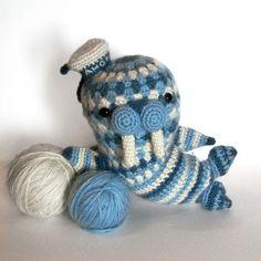 Walter the walrus amigurumi crochet pattern by Irene Strange