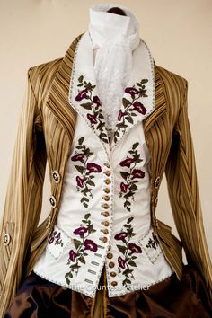 Inspired by women's jacket and vest , ca1790, Musee des Tissus de Lyon. Front