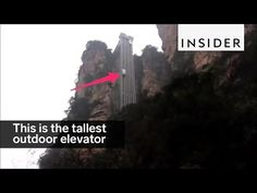 This is the tallest outdoor elevator in the world - YouTube