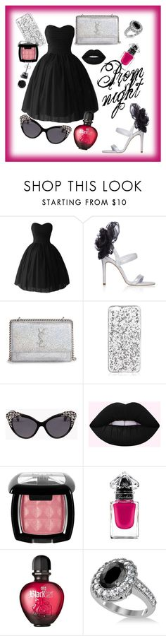 """The Perfect Prom Night"" by emmmy88 on Polyvore featuring Yves Saint Laurent, Dsquared2, NYX, Guerlain, Paco Rabanne, Allurez, BERRICLE, polyvoreeditorial and polyvorefashion"
