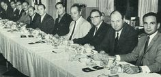 Officers of Two Ten at the speakers table.  St Louis golf event 1963