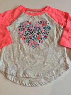 5b8d31ef0d7c8 Carters Oshkosh BNWT SIZE 3 Months Baby Girl Top tshirt long sleeve | eBay Baby  Girl