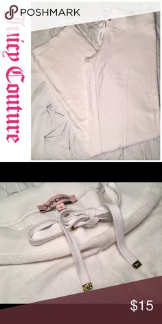 White Juicy Couture Track Sweat Pants Excellent Used Condition. Very nice and comfortable. Juicy Couture Pants Track Pants & Joggers