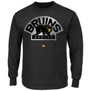 Majestic Boston Bruins Game Reflex Long Sleeve T-Shirt - Black