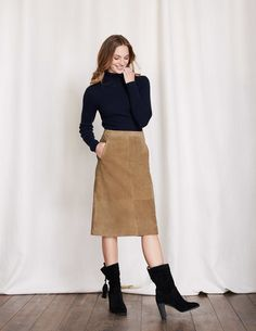 795165322e1 Marisa Suede Skirt WG686 Below Knee Skirts at Boden. I think this suede  skirt with