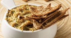 Healthy Warm Artichoke and Bean Dip - Made this to share with girlfriends over wine this afternoon.  YUM! Healthy, but still has that warm artichoke dip flavor.  Easy too!