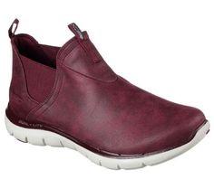 Skechers 12769 Burg Women's Flex Appeal 2.0-Done Deal Boot, Size: 8,