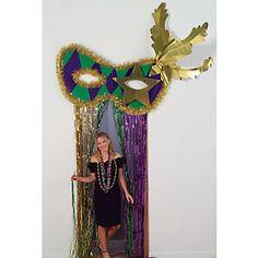 Mardi Gras Mask Curtain Topper Each