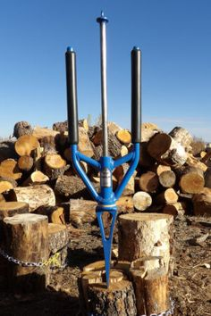 - GOOD N USEFUL The Splitz-All : How to split wood fast and safely – Best way to split firewood - Log splitter solutions - Safe wood cutting Metal Projects, Welding Projects, Diy Projects, Welding Ideas, Welding Classes, Welding Jobs, Metal Welding, Welding Art, Firewood Logs