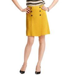 Button Wrap Sweater Skirt