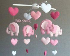 LISTO para barco bebé móvil móvil elefante por lovefeltmobiles