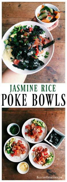 Jasmine Rice Poke Bowls, a fresh and summery meal for any season | ReluctantEntertainer.com