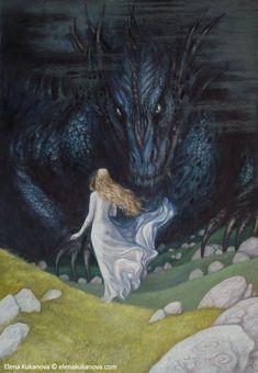Nienor and Glaurung by ekukanova