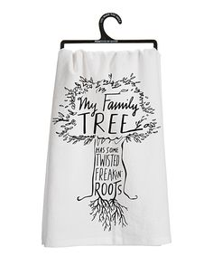 Look at this #zulilyfind! White 'Family Tree' Dish Towel by Primitives by Kathy #zulilyfinds