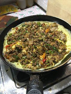 Minced Mutton Fry Omelette