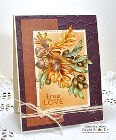 Olive and Oak Expanded Stamp Set by Power Poppy, card design by Christine Okken.