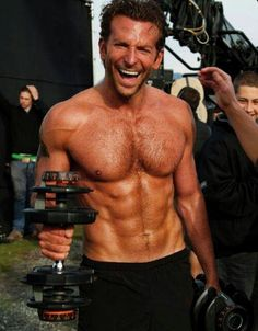 Bradley Cooper working out. Shirtless. You're welcome.