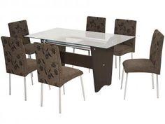 Conjunto de Mesa com 6 Cadeiras Somopar - Munique
