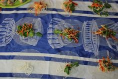 Vietnamese Rice Paper Rolls ready to roll Green Papaya, Green Fruit, Rice Paper Recipes, Vietnamese Rice Paper Rolls, Salad Rolls, Vegetable Prep, Vermicelli Noodles, Fried Shallots, Lemon Rice