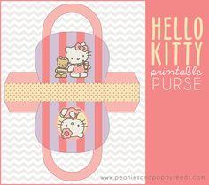 FREE printable Hello Kitty Printable Purse | Peonies and Poppyseeds