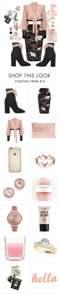 """Powdered Pink"" by briannanicola487 ❤ liked on Polyvore featuring Valentino, River Island, JIRI KALFAR, Bottega Veneta, Dana Rebecca Designs, Pelle, Olivia Burton, NYX and Assouline Publishing"