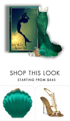 """Mermaid"" by sarahguo ❤ liked on Polyvore featuring Lanvin, Giuseppe Zanotti, UnderTheSea and mermaidlife"