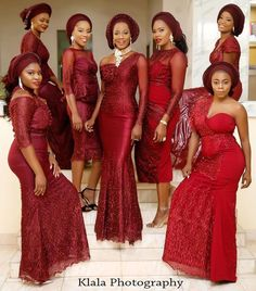 22 Best Nigerian Lace and Aso-Ebi Styles and Designs for May 2018 African Wedding Attire, African Attire, African Lace Dresses, African Fashion Dresses, Nigerian Fashion, Popular Wedding Colors, Wedding Colours, Vestidos Fashion, African Traditional Wedding