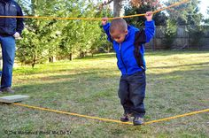 "make your own rope ""bridge"" - super fun for the kids!"