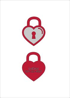 Locked Heart/Quiet dog tag Plastic pet tags Custom by LaCoco725
