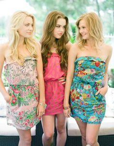 Adorable summer bridesmaid dresses.