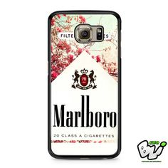 Red Leaf Flower Marlboro Samsung Galaxy S7 Case