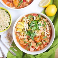 Slow Cooker Moroccan Chicken Stew - a flavorful dinner recipe.