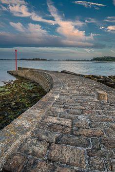 La pointe d'Arradon dans le Golfe du Morbihan, Bretagne.