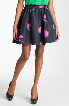 MARC BY MARC JACOBS 'Night Bird' Silk Taffeta Skirt